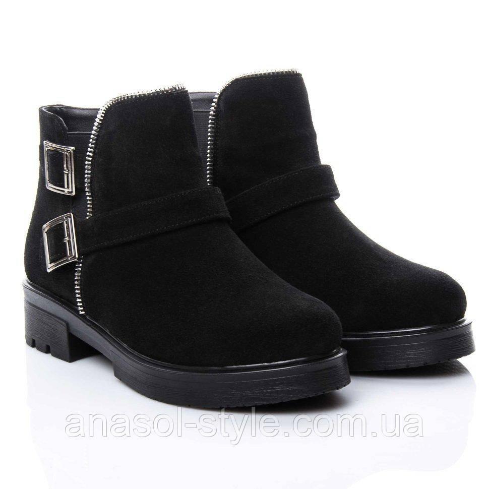 Ботинки La Rose 2153 36(24см) Черная замша