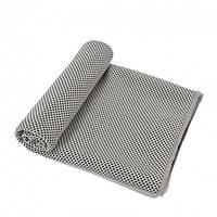 Охолоджувальне рушник в пляшці тубусі 30 х 100 см Cool Towel сіре