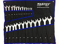 Професиональный набор ключей рожково-накидных Mastiff Польша 25 предметов