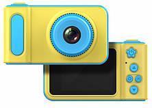 Детский цифровой фотоаппарат фотокамера Smart Kids Camera V7 желто-голубой