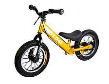Велобег беговел сиденье от 26см до 36см вес до 50кг Дисковый тормоз Logat LDM золотой