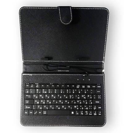 Чохол клавіатура для планшета + KEYBOARD 7 micro black, фото 2