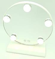 Зеркало для макияжа с LED подсветкой от USB на подставке холодный нейтральный тёплый свет LED Lamp Mirror