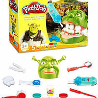 Игровой набор пластилин для лепки стоматолог дантист Мистер зубастик ШРЕК Play-Doh