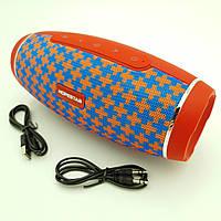 Бездротова акумуляторна колонка Bluetooth акустика FM MP3 AUX USB Hopestar H27 червоно-синій