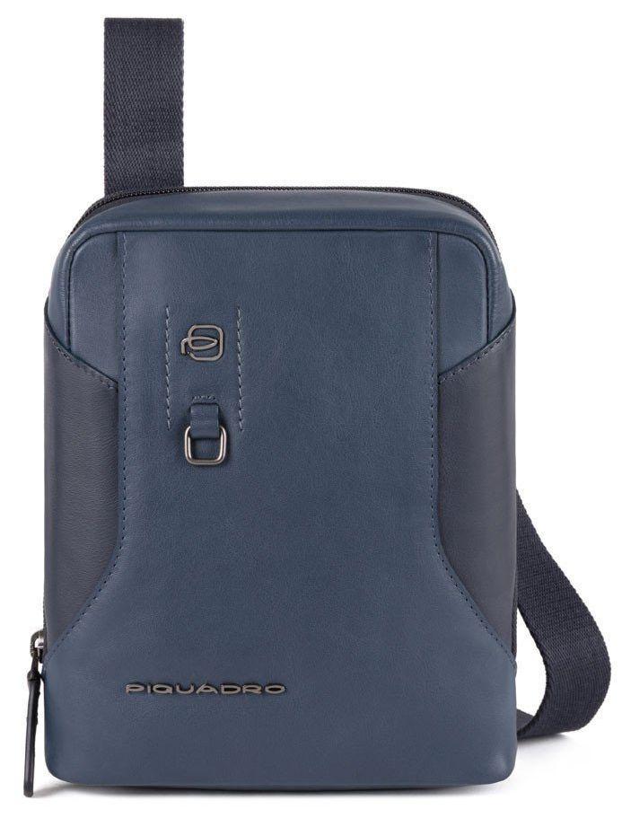 Кожаная мужская сумка Piquadro  Hakone, синяя