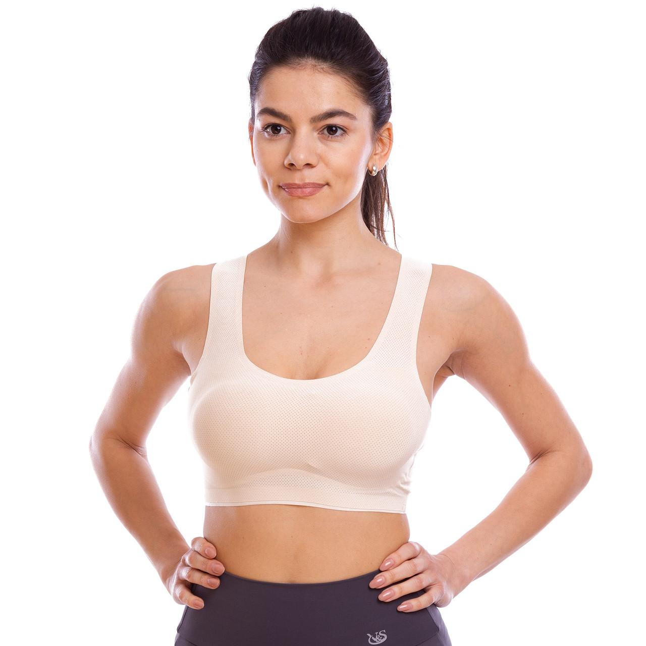Топ для фитнеса и йоги размер S-L-40-48 Бежевый PZ-CO-1864_1