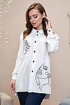 Модная женская рубашка свободного кроя /разные цвета, S-XL, SEV-1327.4012/, фото 3
