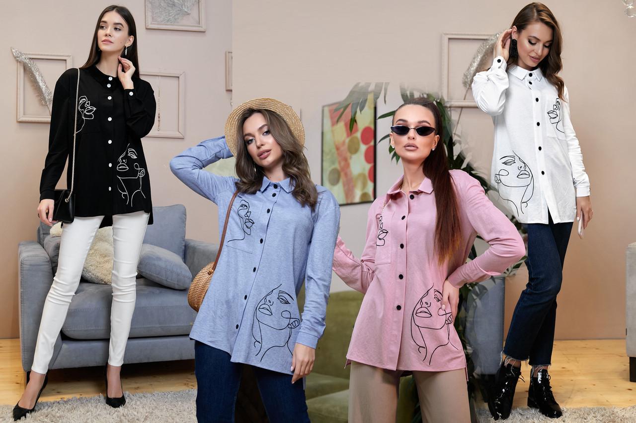 Модная женская рубашка свободного кроя /разные цвета, S-XL, SEV-1327.4012/