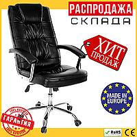 Офисное Компьютерное Кресло (Польша) Эко-Кожа UFL 7430 Черное