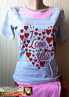 Пижама подросток для девушки Турция Сердце 12, 13, 14, 15, 16, 17, 18 лет