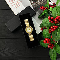 Женские кварцевые наручные часы Baosaili Gold-White