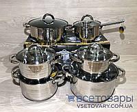 Набор кастрюль Edenberg Eb-4013, 4 кастрюли, ковшик, сковородка, фото 1