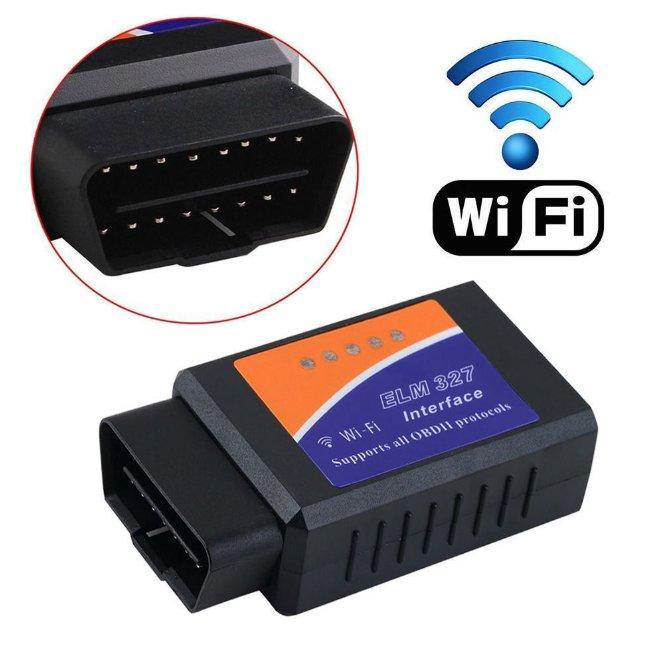 Диагностический OBD2 сканер адаптер ELM327 Wifi (поддержка IOS, Android)
