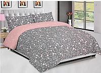 Комплект постельного белья двухцветный, Голд Люкс