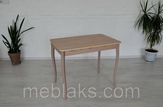Стол Классик с фигурными деревянными ногами 93 см х 60см х 75 см Ясень/Ясень Тавол, фото 2