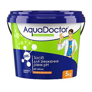 Средство для понижения уровня РН воды бассейна - РН минус гранулированный AquaDOCTOR, 5 кг