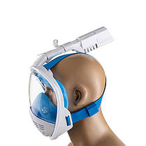 Маска для плавания полнолицевая р L/XL, синий, фото 3