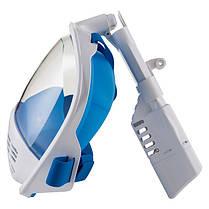 Маска для плавания полнолицевая р L/XL, синий, фото 2