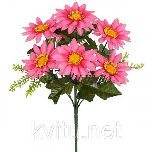 Искусственные цветы букет ромашка цветная, 30см