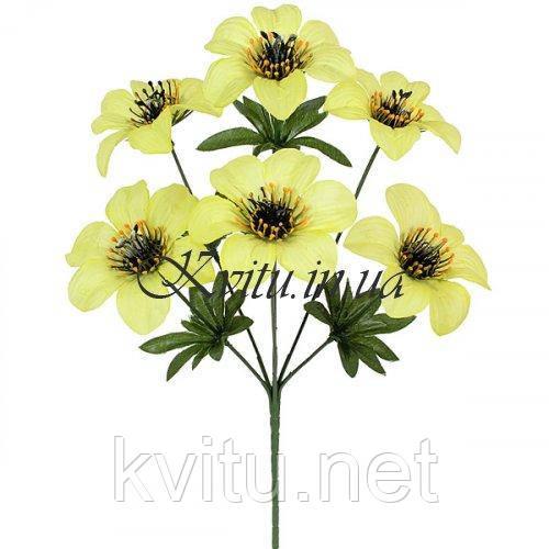 Искусственные цветы букет колокольчик Пчелка, 34см