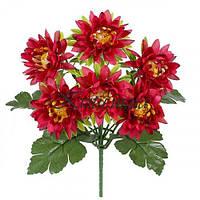 Искусственные цветы букет астры пушистые, 30см