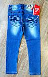 """Дитячі джинси на дівчинку """"MISS"""" з регуляторами гумками по боках розміри 6-16, фото 3"""