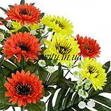 Искусственные цветы букет хризантема цветная микс, 43см, фото 2
