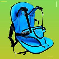 Бескаркасное автокресло. Бескаркасное кресло для детей Синий