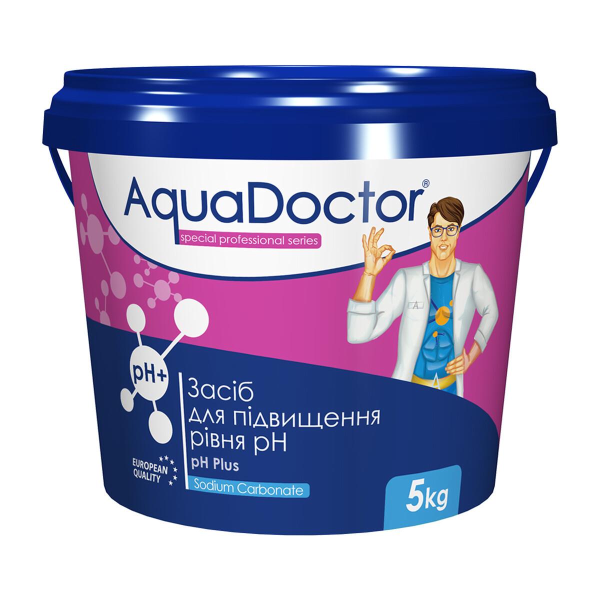 Засіб для підвищення рівня РН води басейну - РН плюс гранульований AquaDOCTOR, 1 кг