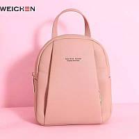 Женская модная сумка - рюкзак 2 в 1 Forever Young розовая