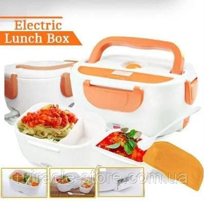 Ланч бокс с подогревом от сети 220V и прикуривателя  Electric lunch box