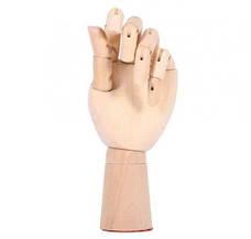Деревянная рука манекен 18см модель для держания товара, для рисования (левая), фото 3