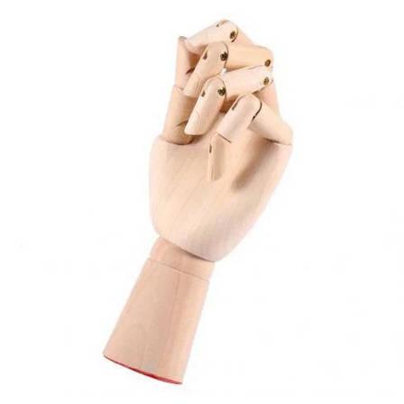Деревянная рука манекен 18см модель для держания товара, для рисования (левая), фото 2