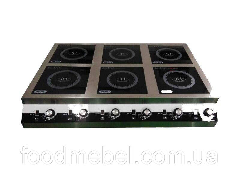 Плита индукционная Berg IG-6 промышленная 6 конфорок 3500 Вт