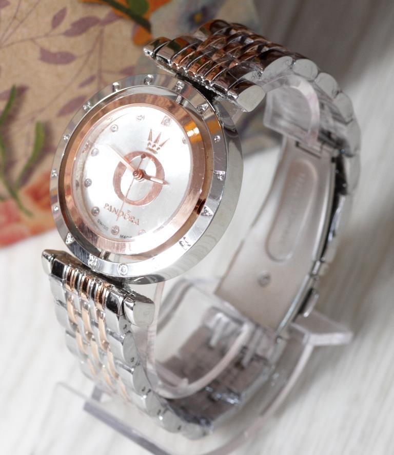 Наручные кварцевые часы HS0006 Комбинация золота и серебра