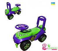 Каталка Машина 0141 салатова-фіолетова толокар Долоні машинка для катання
