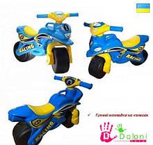 Мотоцикл Doloni голубий Sport толокар беговел каталка Долони мотобайк