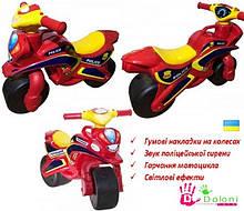Мотоцикл музичний Doloni червоний світло, толокар беговел каталка Долони мотобайк