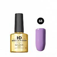 Гель лак 68 Светлый Фиолетовый Плотный Гель-лаки  HD Hollywood