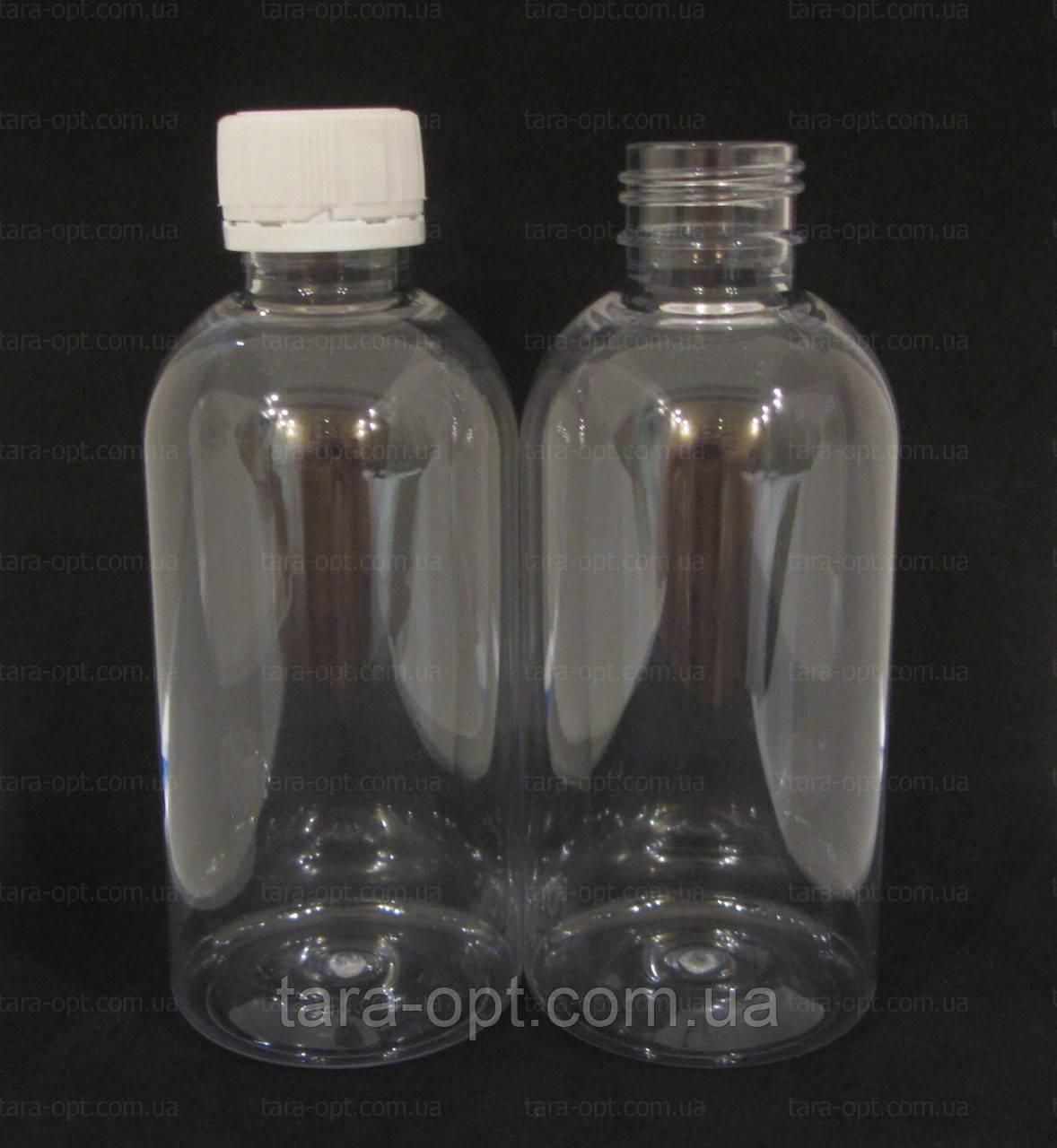 Прозрачный флакон 250 мл, плотный пластик