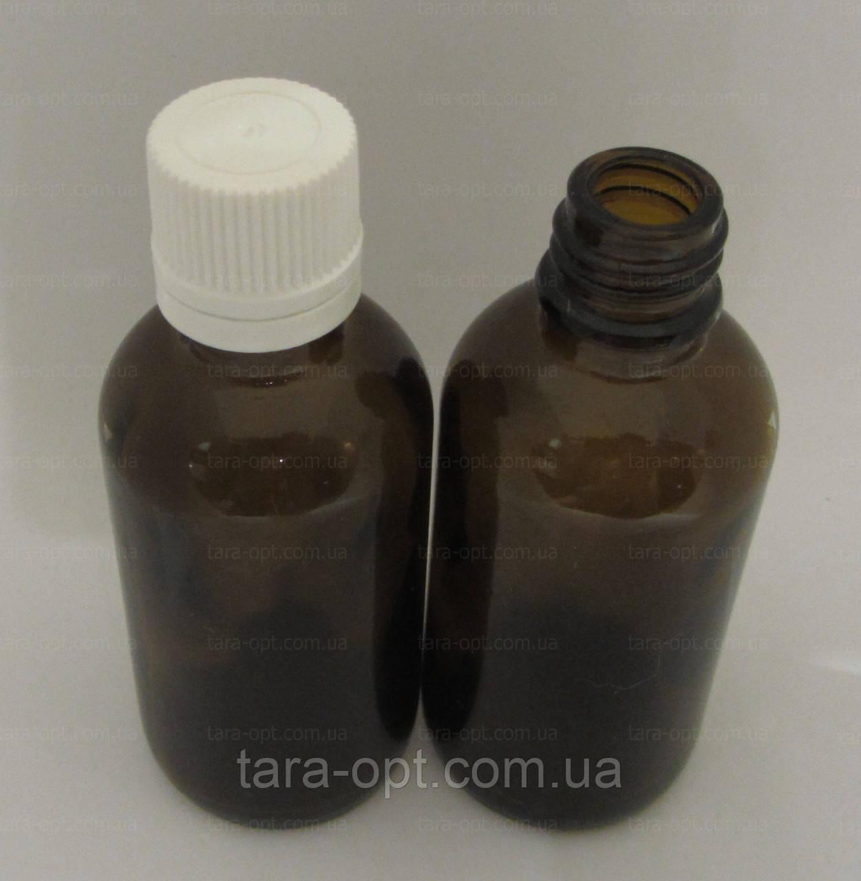 Флакон из стекла 50 мл, без дозатора бутылочка