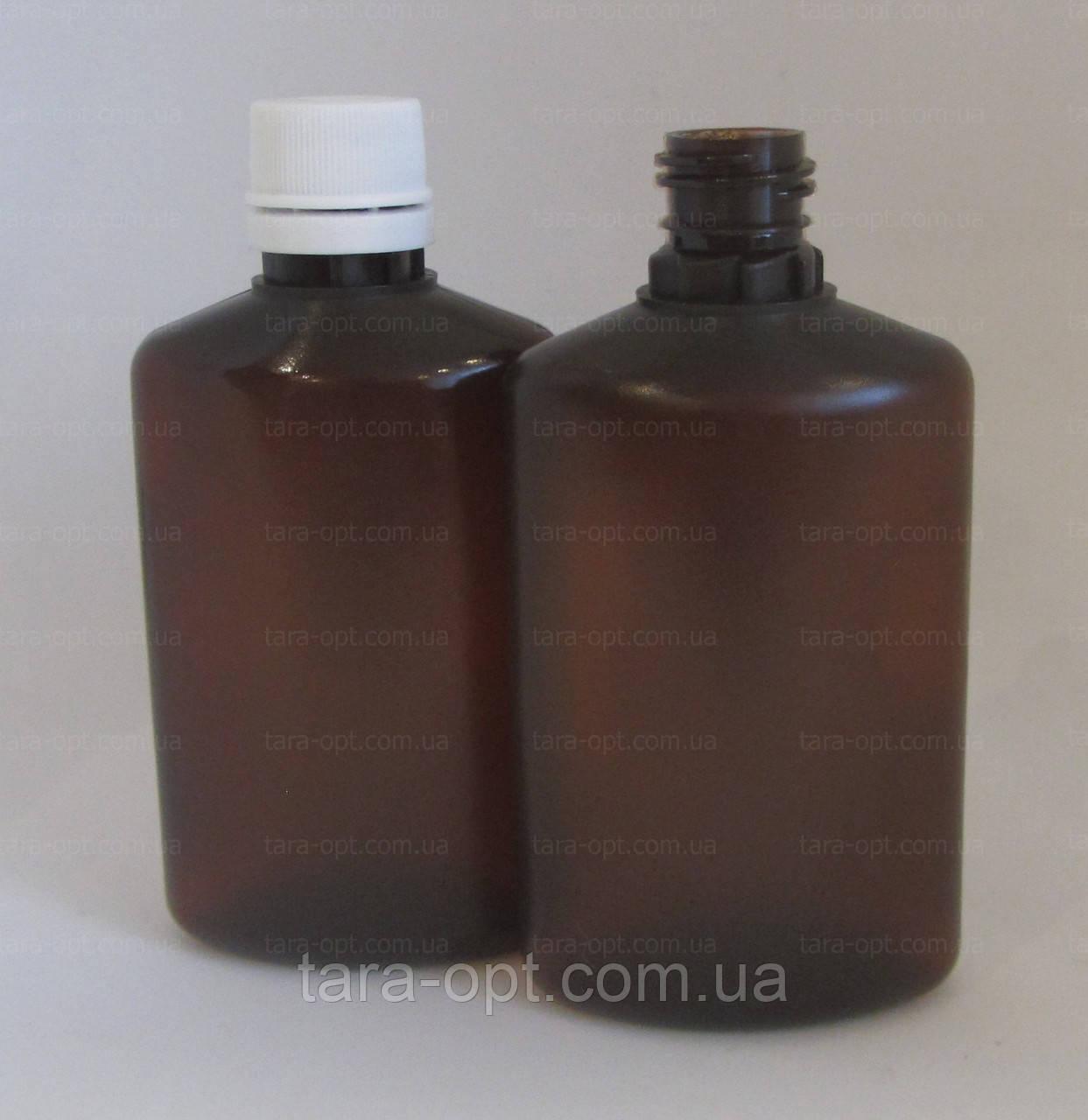 Флакон овальный 50 мл, коричневый, (Цена от 2,75 грн)*