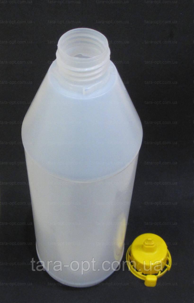 Бутылка 1 литр под сироп, соус, кетчуп, майонез, клей