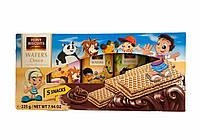 Вафлі feiny biscuits wafers choco дитячі з шоколадною начинкою 225г (5х45г)