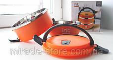 Термо ланч бокс двухсекционный круглый Irit IRH-155, фото 3