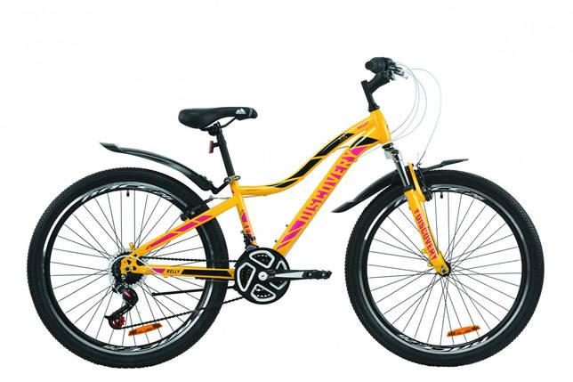 """Велосипед ST 26"""" Discovery KELLY AM Vbr с крылом Pl 2020 (желто-сиреневый с черным), фото 2"""