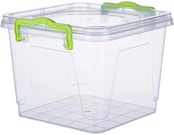 Контейнер для хранения с зажимами квадратный 3,7л