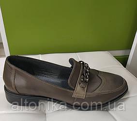 40р! Размеры 40! Туфли лоферы из натуральной кожи. 40