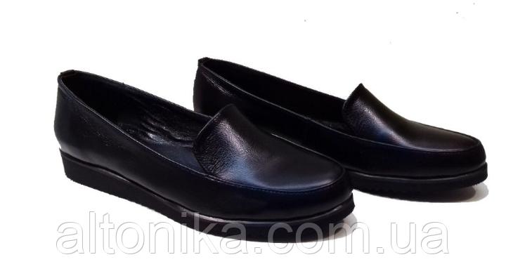 STTOPA 41р! Размеры 36-44! Туфли лоферы больших размеров из натуральной кожи. С6-6-3644-3